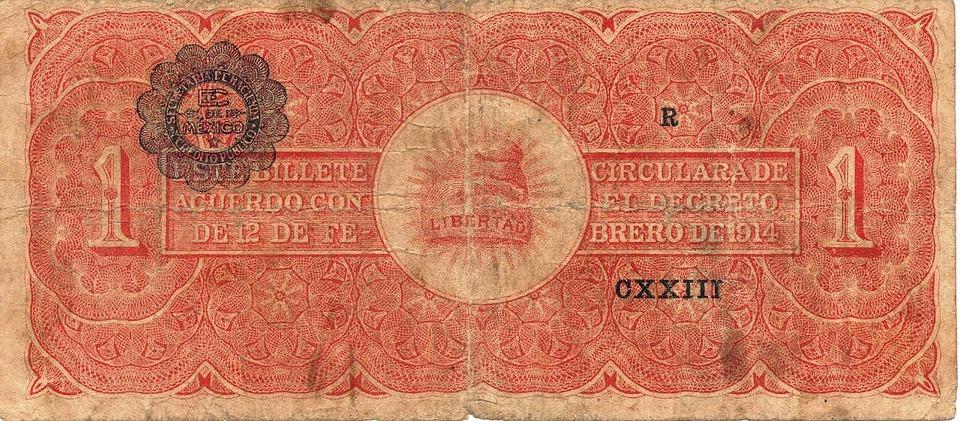bankovka mexická