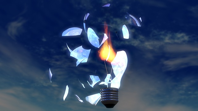 světelný plamen