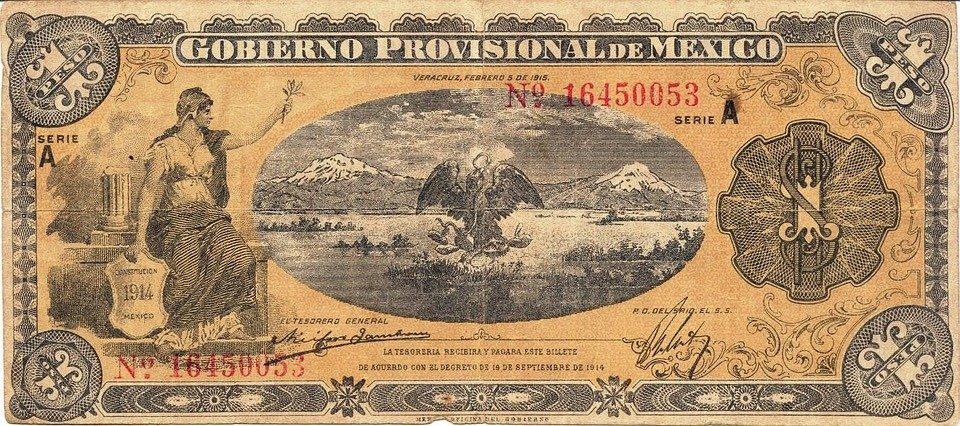 mexická bankovka